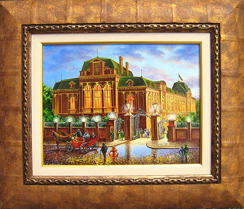 Стара София - Бал в царския дворец. Масло/платно 40х30 см. Автор - Мила Василева